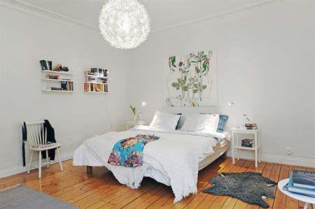 北欧风的秘密花园 赏析20平方米卧室装修图