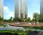 锦盛豪庭 东部水上平台效果图
