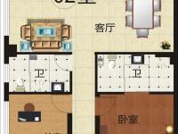 2室 135.64平米