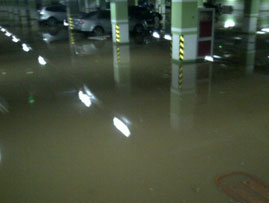 地面或地下室积水