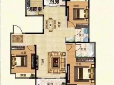 解放南路都市豪庭134平精装小高层送车库满2年165万图片