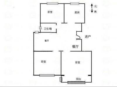 学校对面清华学仕园 精装小三房 87.45平送9.5平车库图片