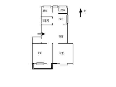供电南村10号,精装两房 好楼层 74.11平 89.5万图片