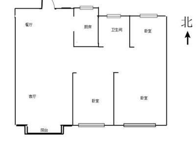 城西南吾悦广场名望府旁毛坯三房采光无遮挡包税图片