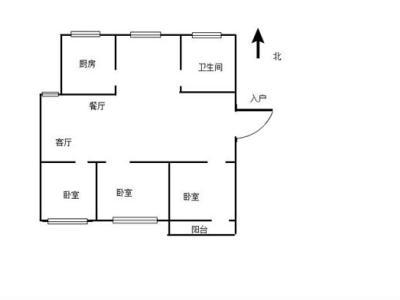 鑫业新村简单装修三房 南北通透96.84平 单价10000+图片