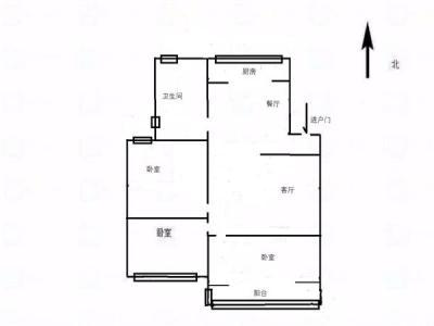 城西南钱江绿洲旁源缘小区精装三房得房率高后期可以装电梯图片