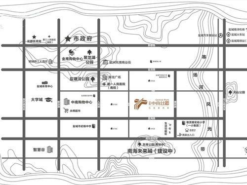 兴邦·中央公园 区位图
