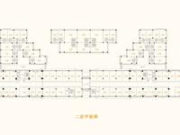 豪德广场商铺二层平面图