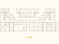 豪德广场商铺一层平面图