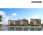 吾悦广场 沿河日景透视图