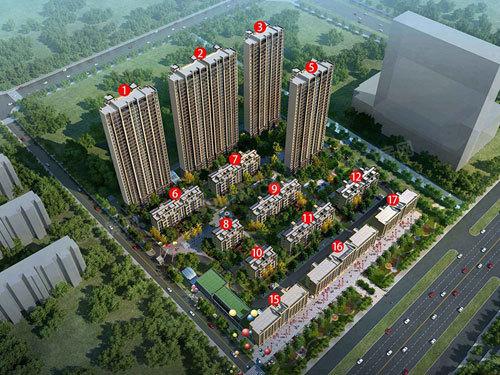 港龙·华侨新城 鸟瞰图
