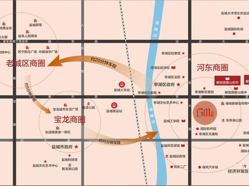 绿洲·6M第宅 区位图