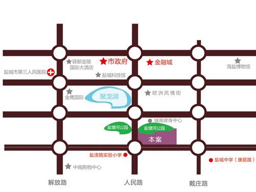 香苑东园 项目区位图