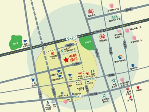 西城逸景 區位圖