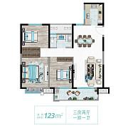 123m2高层户型 123m2高层户型