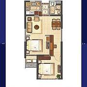 两室两厅一卫 两室两厅一卫