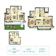 4室2厅3卫 面积:155㎡ 4室2厅3卫 面积:155㎡