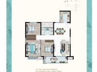 3室2厅1卫 面积:120㎡