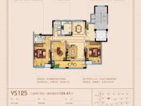 3室2厅2卫 面积:124.47㎡