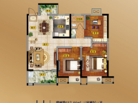 3室2厅1卫 面积:112.44㎡
