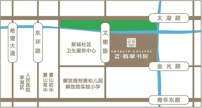 萬科悅達·翡翠書院 區位圖