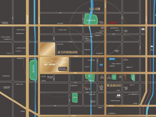 富力科创城 区位图