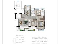 珑玥120平米三室两厅两卫