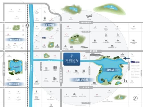 東湖国际 区位图