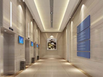 鹽城國際創投中心 電梯廳