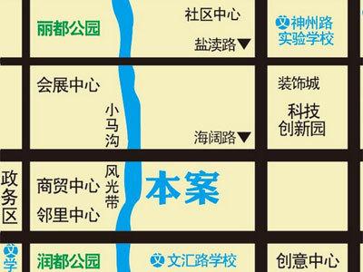 冠亨名城 区位图