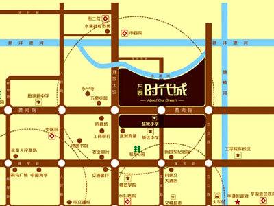 万泰时代城 区位图
