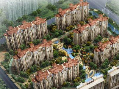 中南世紀城 鳥瞰圖