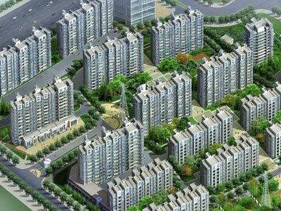 锦城丽景花园 鸟瞰图