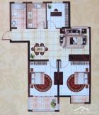 D户型-94㎡-三室两厅一卫