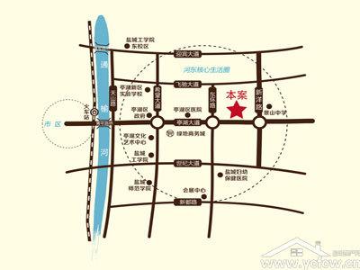 华建雅园 区位图