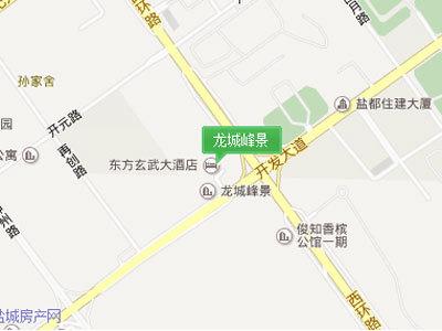 龙城峰景 区位图