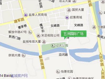 五洲國際廣場 區位圖