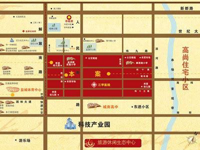 中南世纪城 区位图