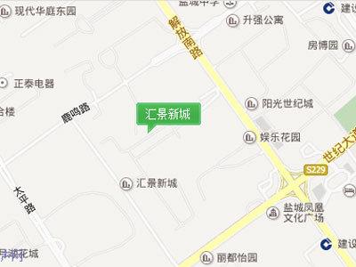 汇景新城 区位图