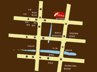 香榭星城 区位图