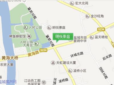 明悦景庭 区位图