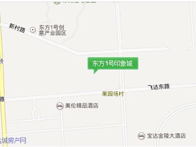 东方1号印象城 区位图