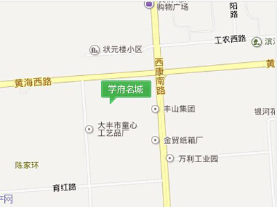 学府名城 区位图