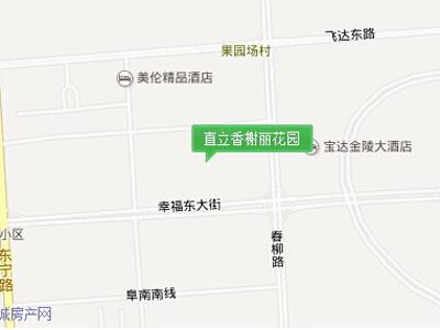 直立香榭丽花园 区位图