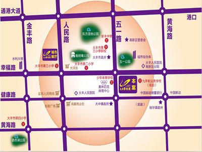 大豐碧桂園 區位圖