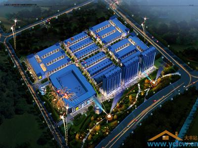 汇坚国际商贸城 夜景图
