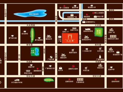 万达华府·大公馆 区位图