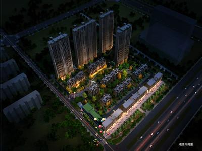 港龍·華僑新城 夜景圖