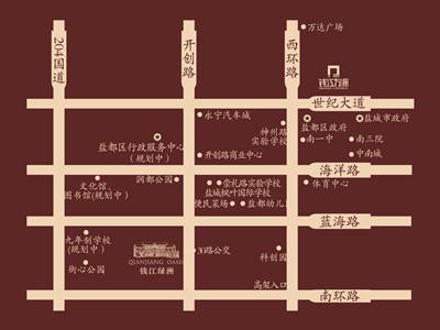 钱江绿洲 区位图