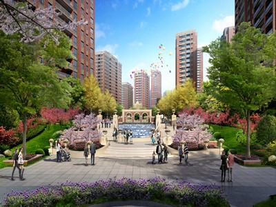 钱江绿洲 台地水景